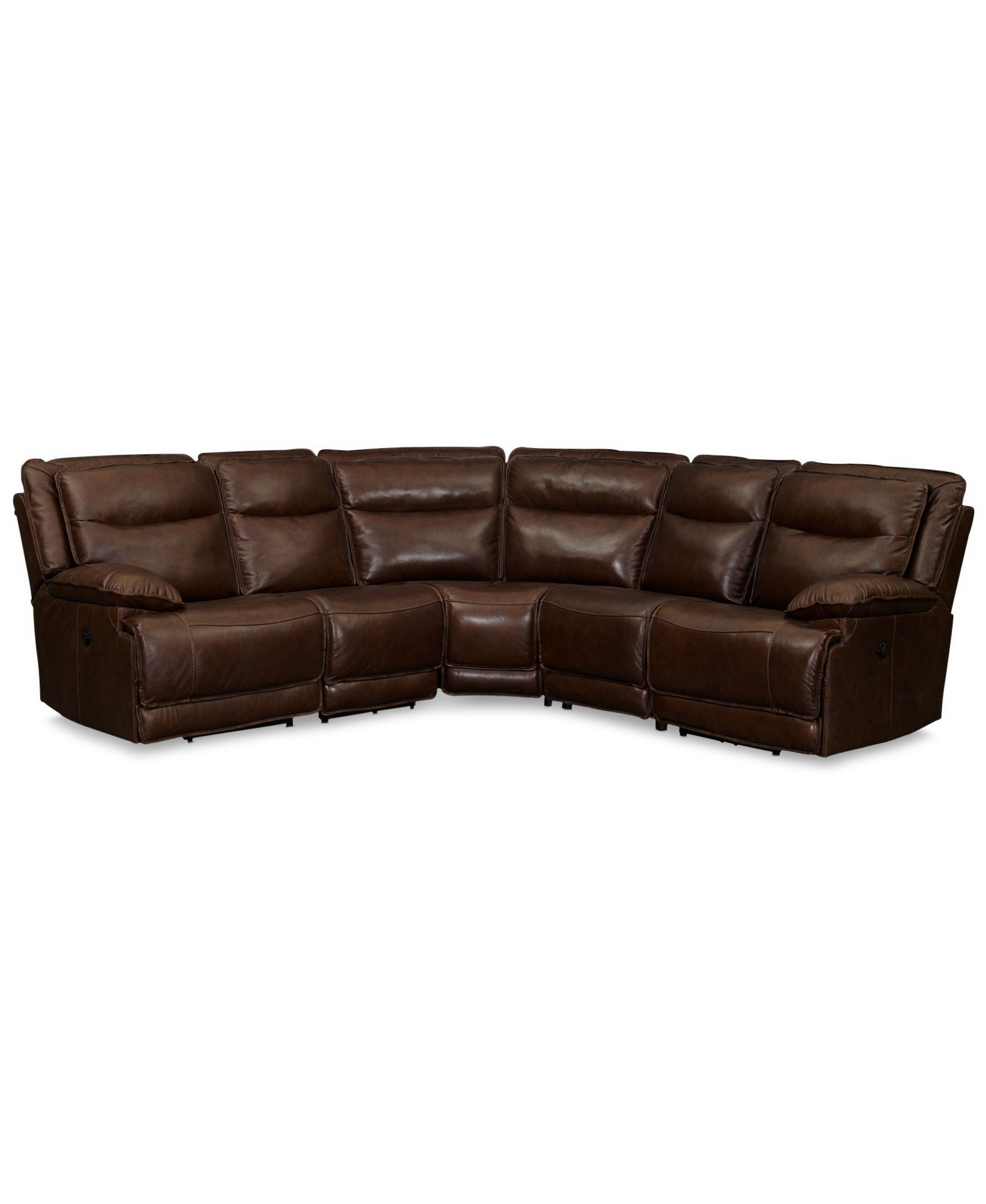 Astounding Joffrey Leather 5 Piece Sectional Sofa With 3 Power Gmtry Best Dining Table And Chair Ideas Images Gmtryco