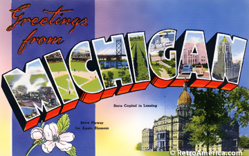 Greetings from michigan history pinterest greetings from michigan m4hsunfo