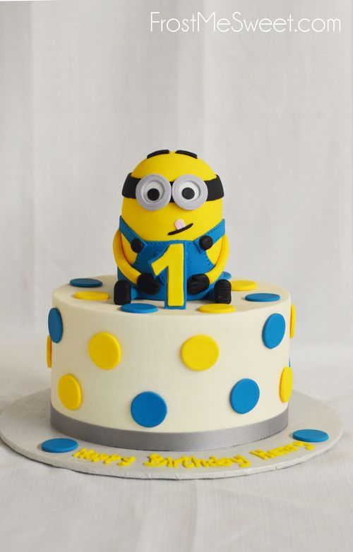 Minion 1st First Birthday Cake By Frost Me Sweet With Images