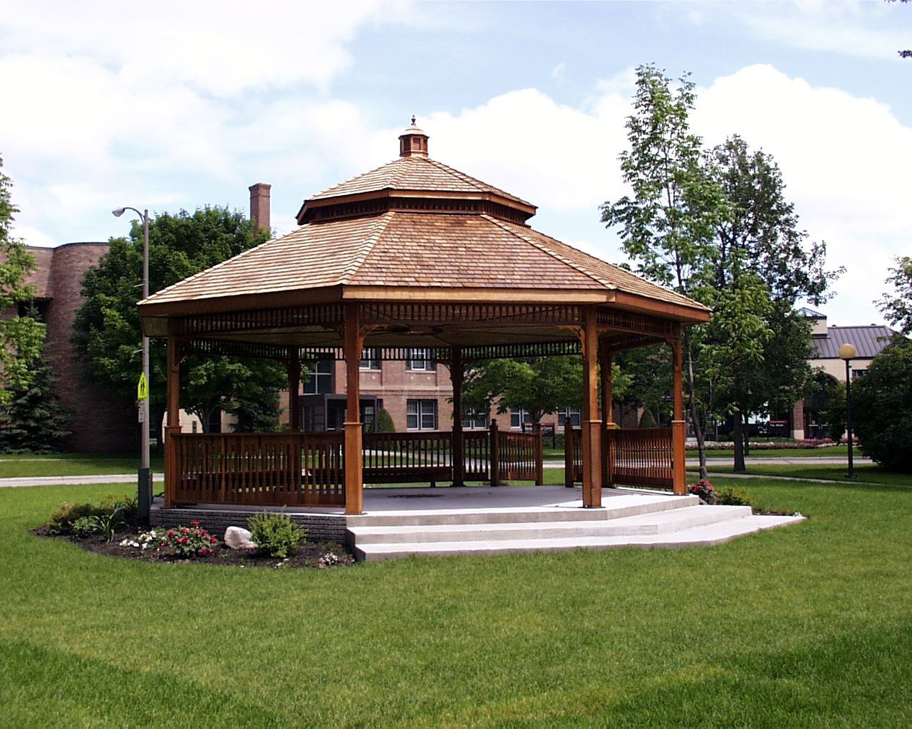 Large gazebo design for backyard design idea art for Large wooden gazebos