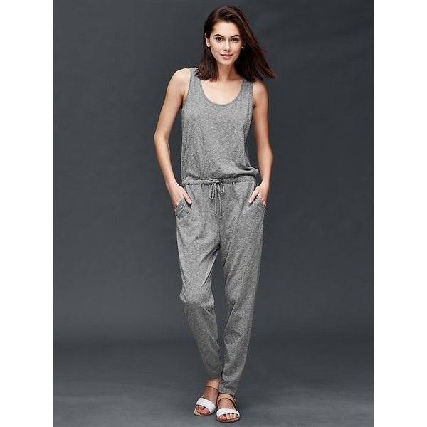 0f5f45b1f645 Gap Women Sleeveless Jumpsuit ( 60) ❤ liked on Polyvore featuring jumpsuits