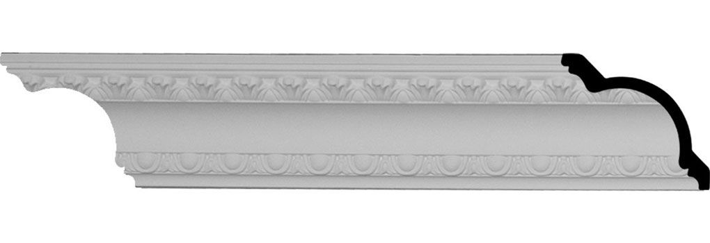 3 Inch H X 2 3 4 Inch P X 4 1 8 Inch F X 94 1 2 Inch L 1 3 8 Inch Repeat Egg And Dart Crown Moulding With Images Moldings And Trim Crown Molding Crown