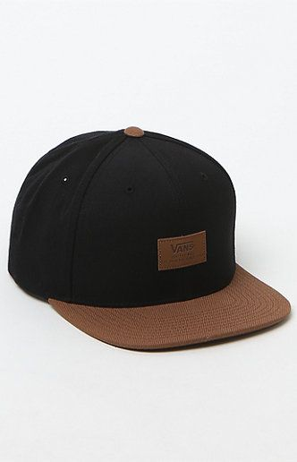fac8f0ed Vans gives style to the classic construction of this snapback hat from  Starter. The Blackout Snapback Hat features a durable acrylic/wool blend to  create a ...