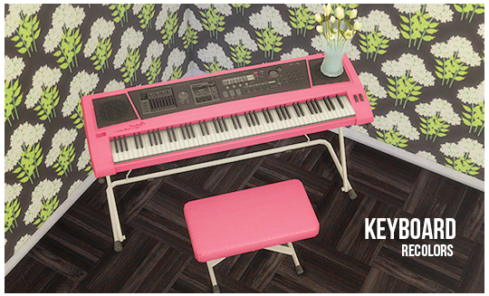 The Sims 4 | lina-cherie: 7 colors of Adonis Pluto\'s keyboard | buy ...