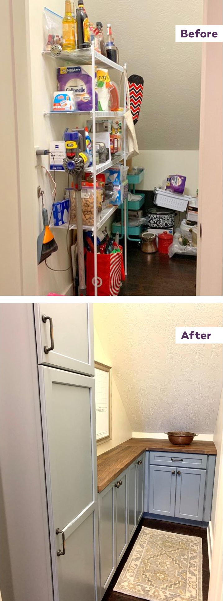 pantry remodel part 2: the big reveal   pantry remodel, small pantry organization, small pantry