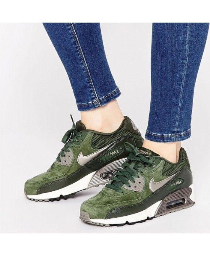 online store a48de a14f8 Nike Air Max 90 Carbon Green Leather Trainers Popular for 2016 winter