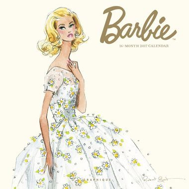 2017 BarbieCalendar  Our 2017 Barbie Calendar features elegant daywear and stunning evening gowns designed by Robert Best. These Barbies are showcased in elegant haute couture creations. Don't forg
