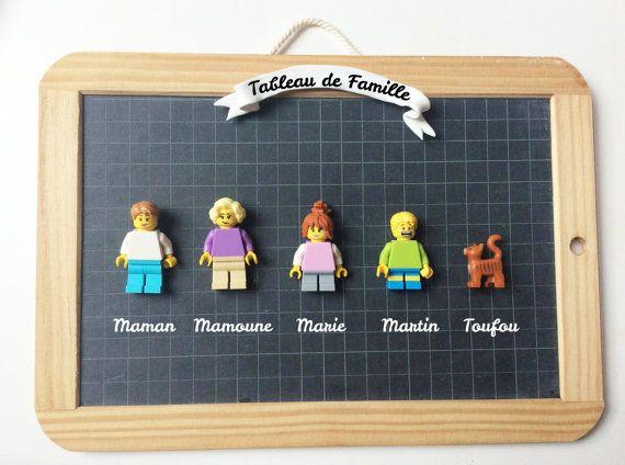 Idée Cadeau Famille Famille Légo   Cadre Personnalisé   Personnalisable   Fait Main