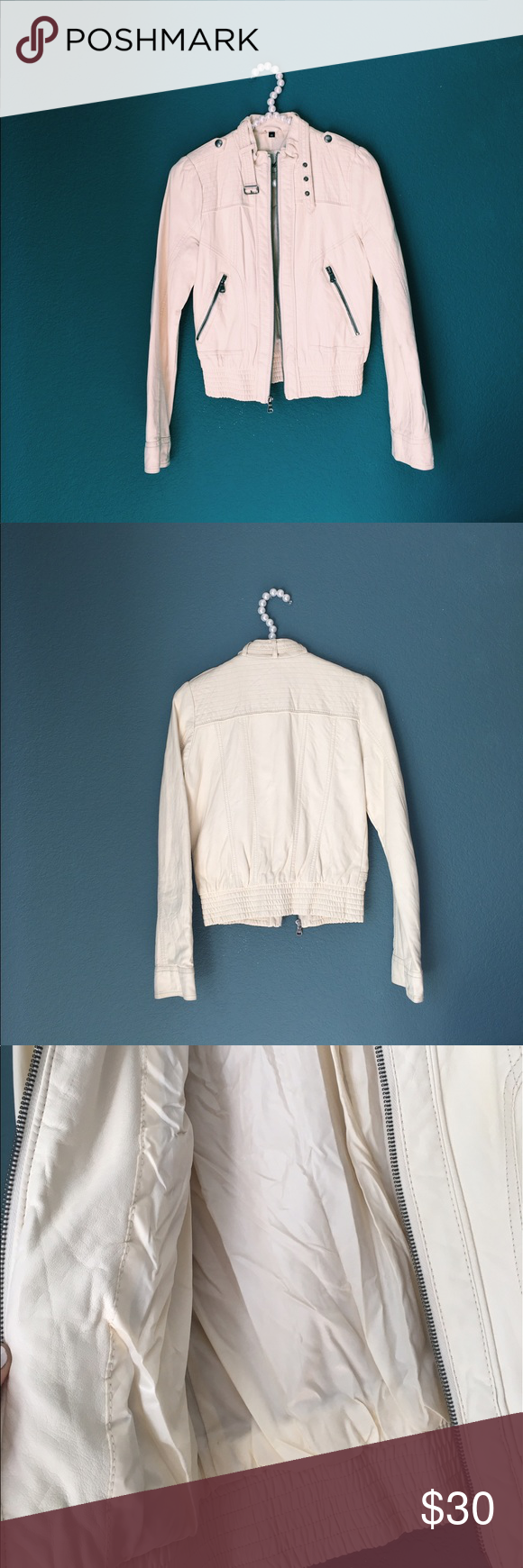 guess creme blazer offers welcome super cute creme blazer. Never really worn so in excellent condition. Let me know if you have any questions. Guess Jackets & Coats Blazers