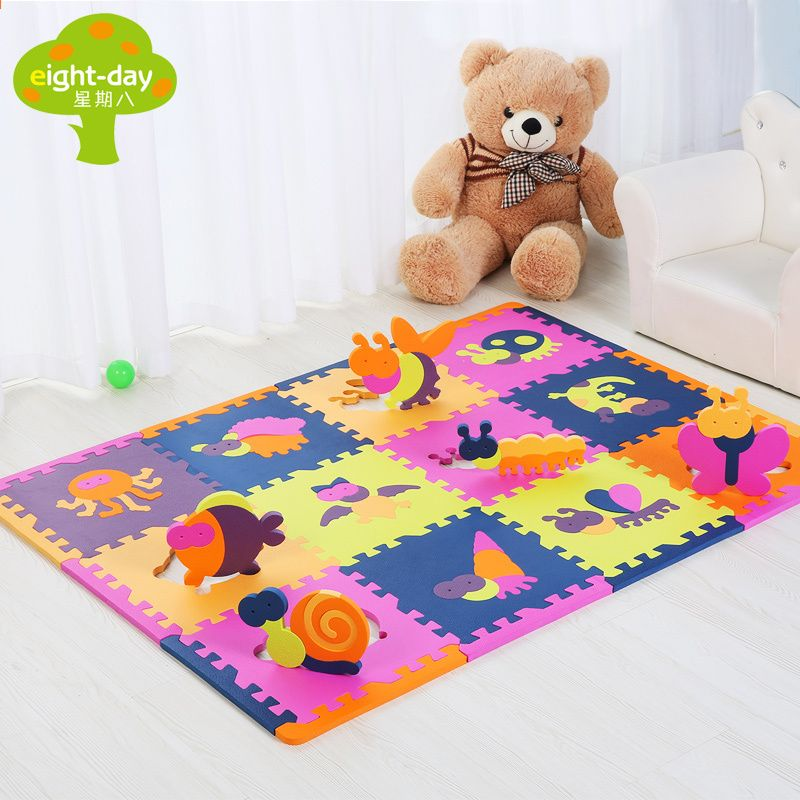 Ocho Dias Chino Zodiaco Espuma Mat Animal Kids Juego Mat Sets Home Playing Tile Ninos Puzzle Mat 12 Piezas Cada Jue Kids Playmat Baby Toddler Toys Toddler Toys