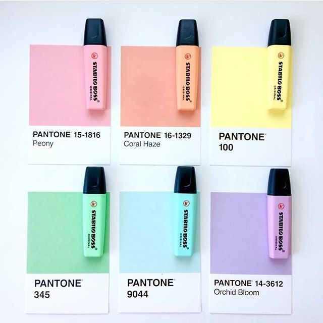 What's your favorite Pastel Pantone? Have a great week #STABILOvers credits to @odettewrites #stabilophcreate
