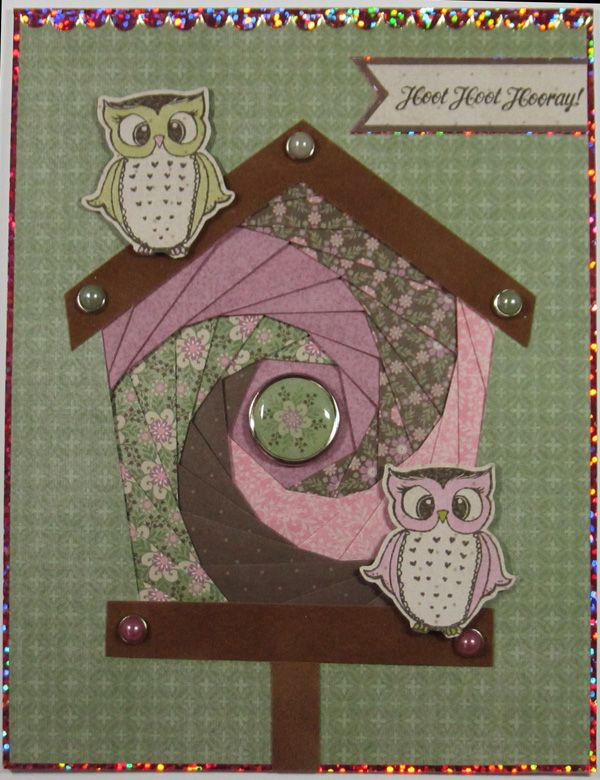 Iris Folding Owl Card. For an extra special wow factor, try out iris folding! Join Ann each week as she features a step-by-step project!