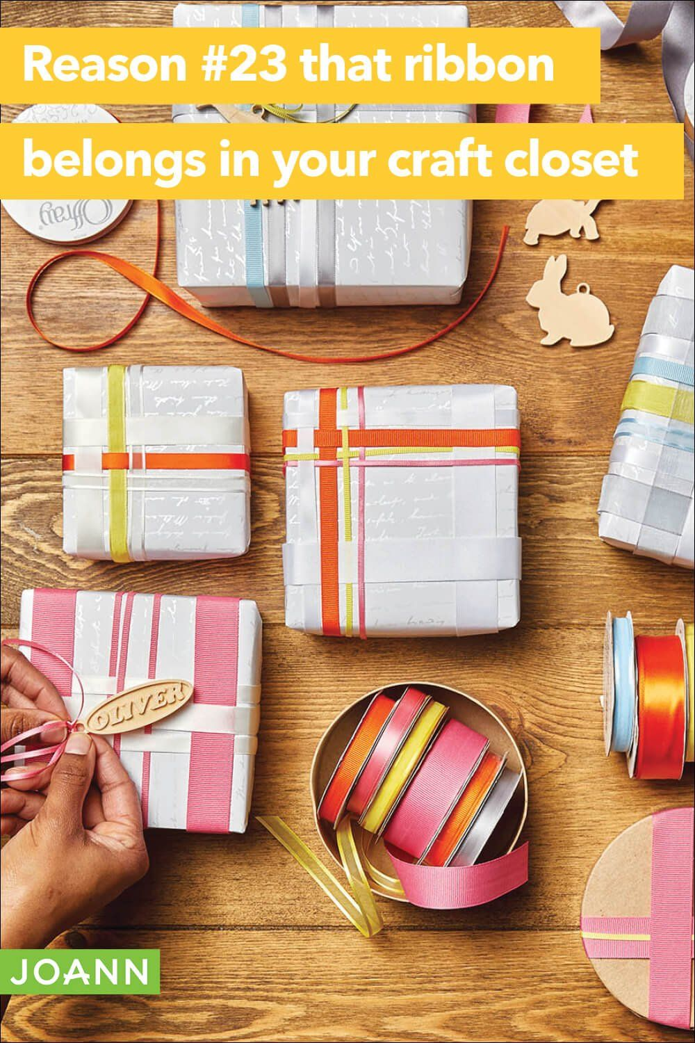 Shop Ribbon To Make Pretty Packages And So Much More In 2020 Ribbon Design Printed Ribbon Crafts