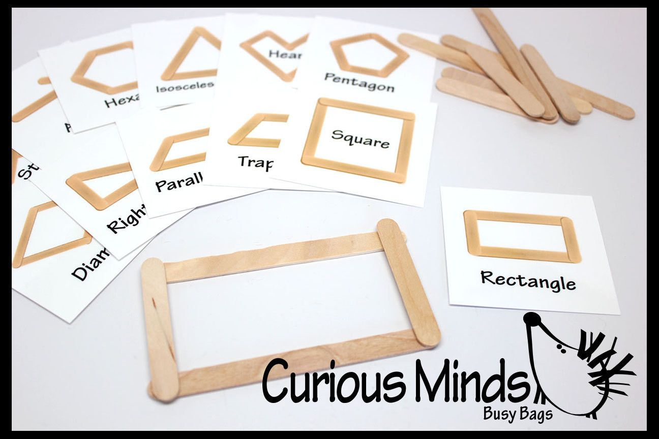 Making Shapes With Popsicle Sticks Or Plastic Snap