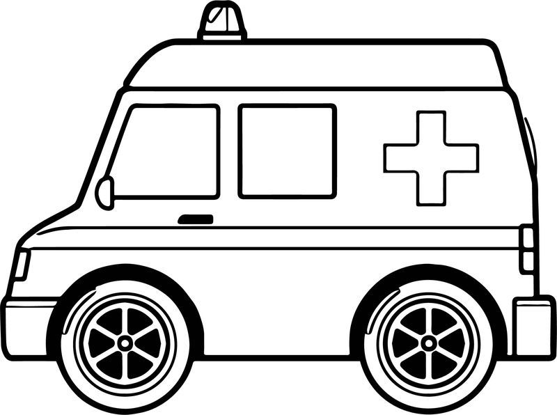 Midi Ambulance Coloring Page