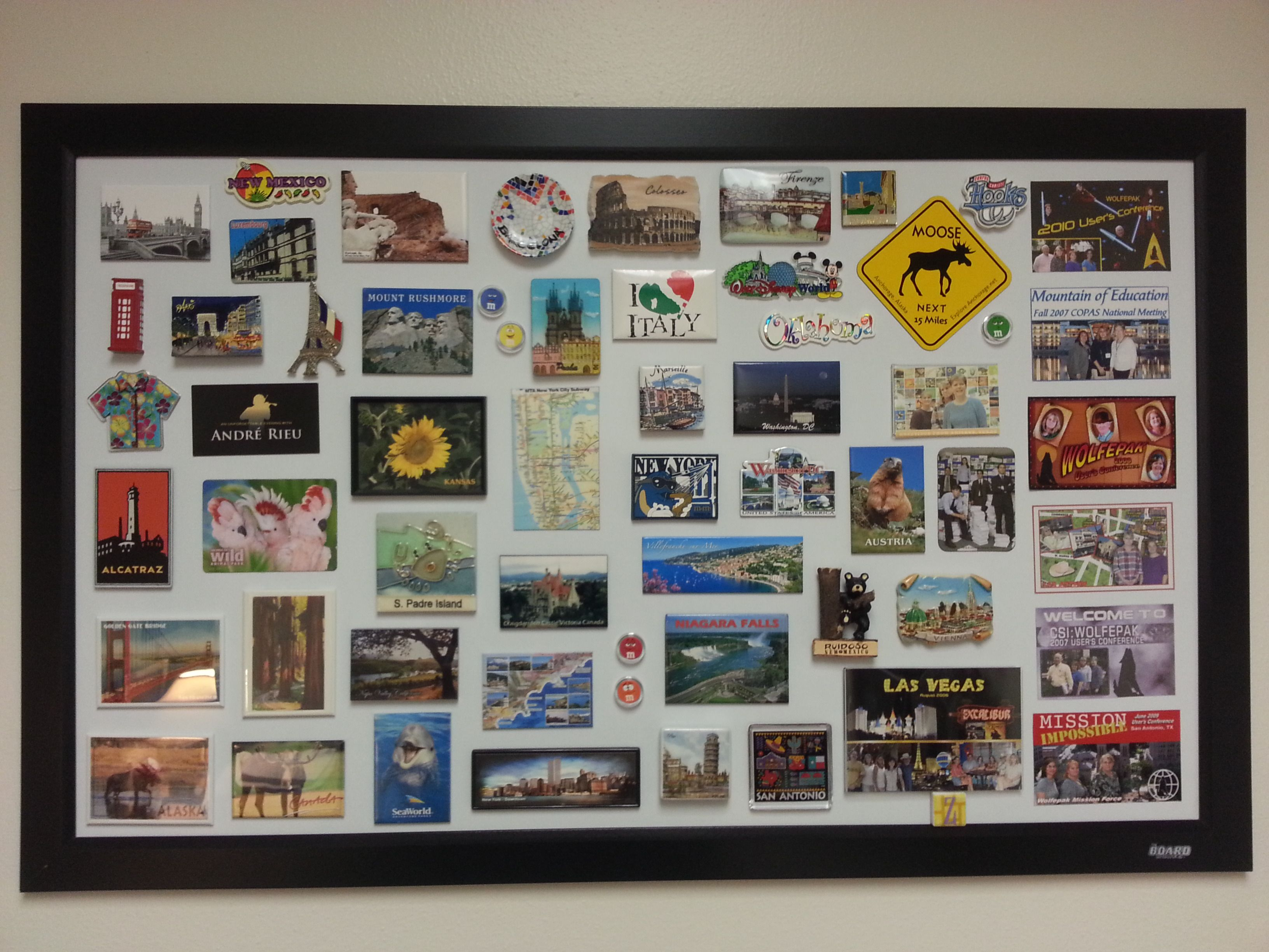 Attrayant Fun Way To Display Magnet Collection Using Magnet Board