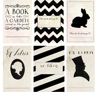 download free vintage style bookplates how about orange book labels printable labels