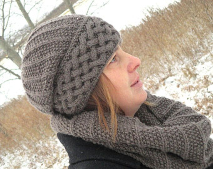 Knitting Pattern Hat And Scarf Knit Pattern Hat Knit Pattern