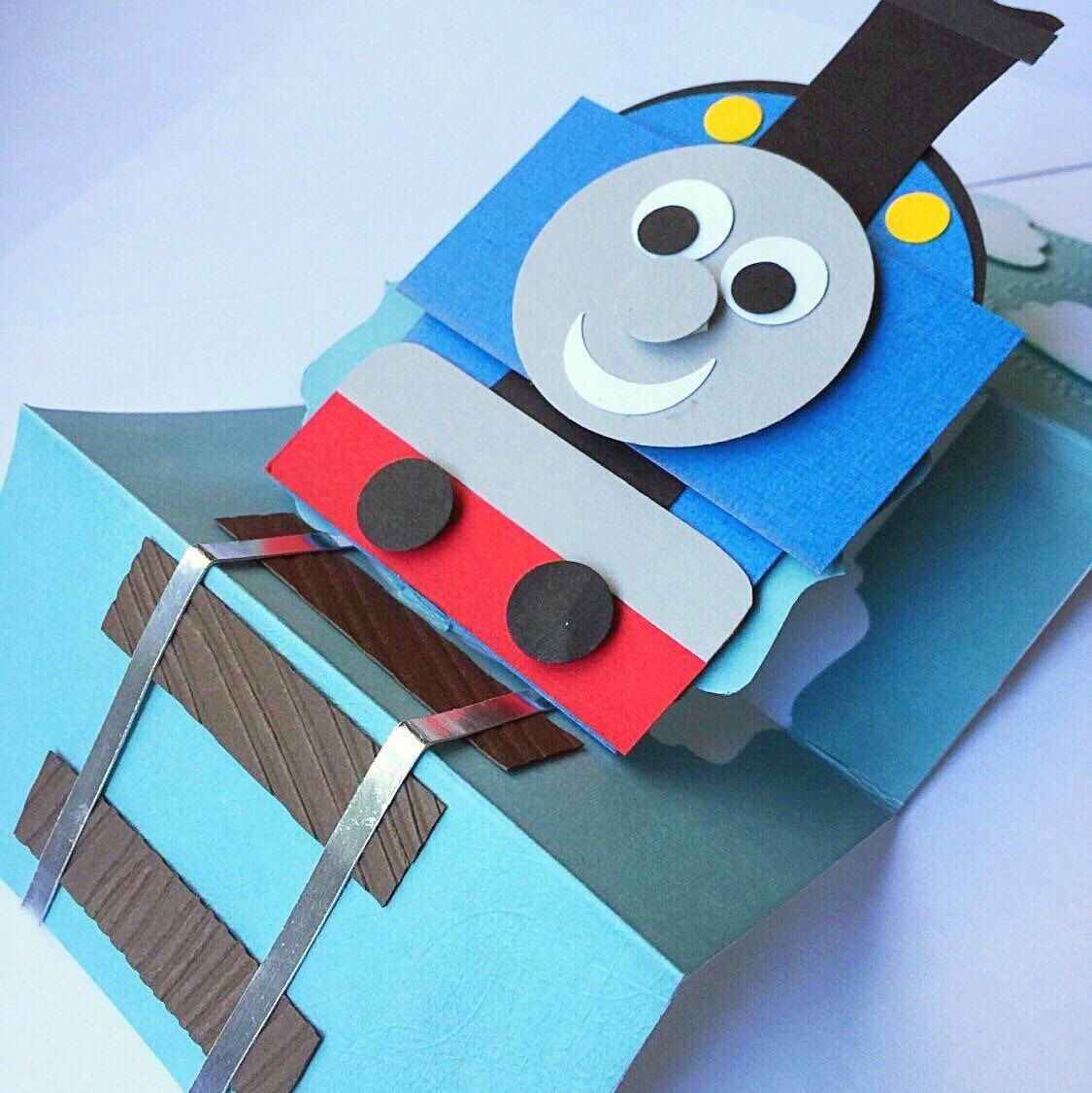 Last Call For This Thomas The Train Card It Is One Of A Kind And Will Be Retiring Once It Is Sold Birthday Cards Kids Birthday Cards Happy Birthday Cards
