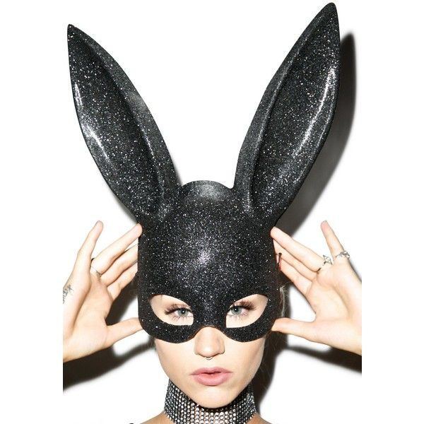 Glitter Bunny Mask ($10) ❤ liked on Polyvore featuring costumes, bunny  rabbit costume, bunny rabbit halloween costume, leg avenue, leg avenue  costumes and ...