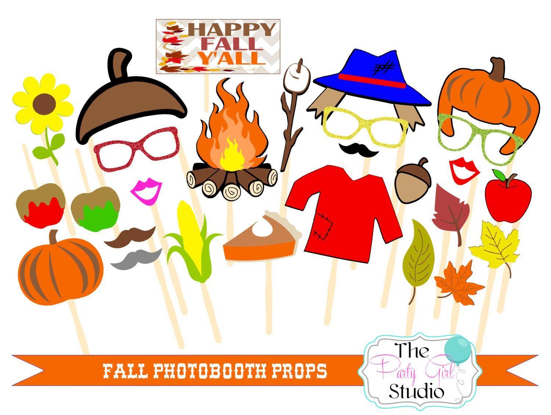 27 Pc Its Fall Yall Photobooth Props Digital File Fall