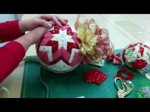 Como Decorar Bolas De Navidad De Poliespan.Tutorial Bola De Navidad Patchwork Poliespan Anime