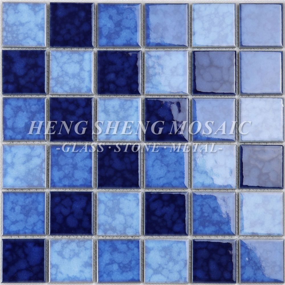 Cheap Price Foshan Supplier Square Shaped 12x12 Swimming Pool Tile Blue Ceramic Mosaic Tiles For Kitchen Bath Ceramic Mosaic Tile Swimming Pool Tiles Pool Tile