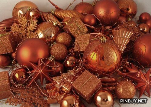 Orange Christmas Ornaments - Christmas Decorations The Shopping