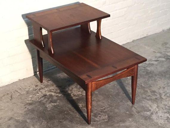 BASSETT MidCentury Danish Modern End Table Nightstand StepUp