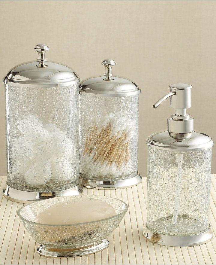 Superb Paradigm Bath Accessories Crackle Glass Tumbler Bed Interior Design Ideas Gentotryabchikinfo