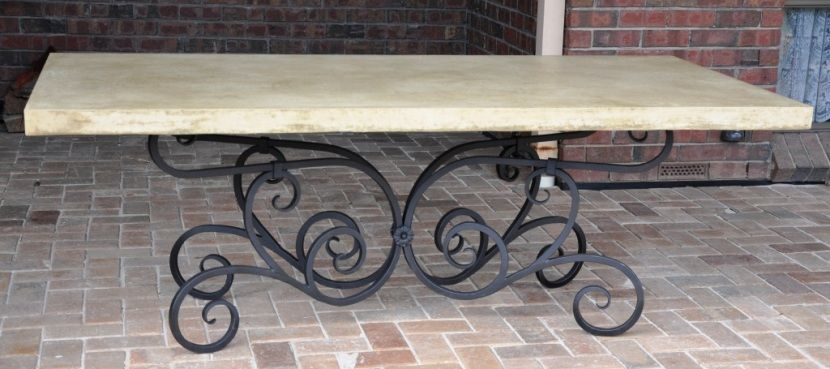 Dress up your outdoor dining with an heirloom. This wrought iron