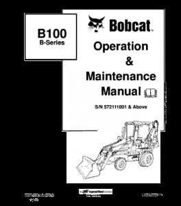 Best download bobcat b100 b series backhoe loader