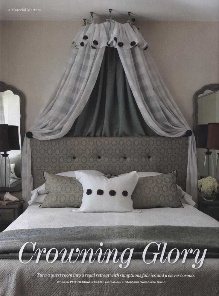 Bed Treatment/Canopy/Corona by Pate Meadows Designs as seen in Southern Lady Magazine & Bed Treatment/Canopy/Corona by Pate Meadows Designs as seen in ...