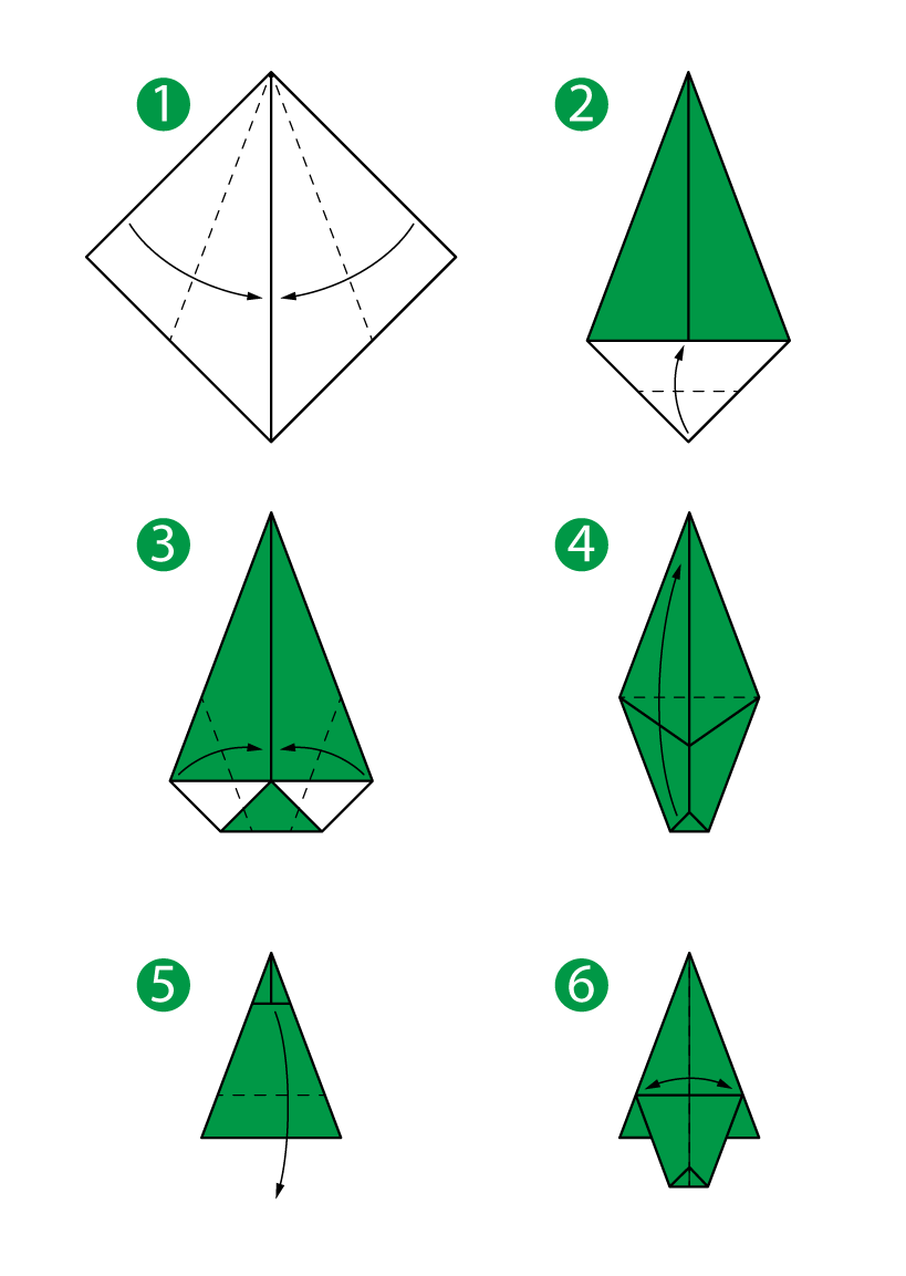 Beauteous Origami Tree Instructions Step By Step Instructions How To Make Origami Christmas Tree Origam Origami Christmas Tree Christmas Origami Origami Tree