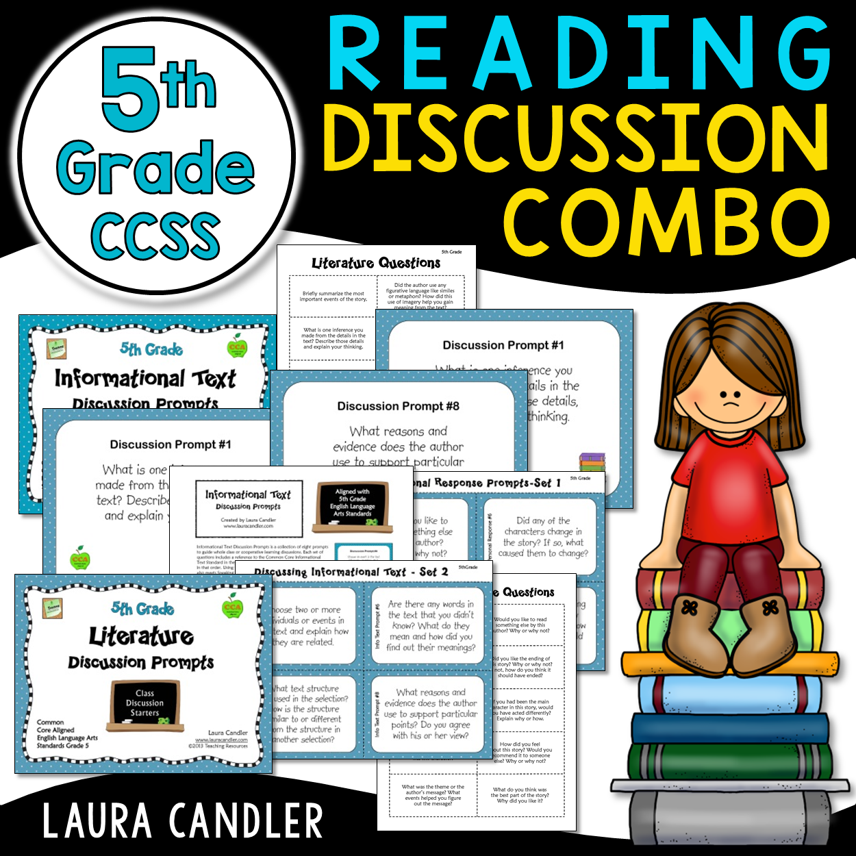 5th Grade Ccss Reading Discussion Bundle Ideal For Esl