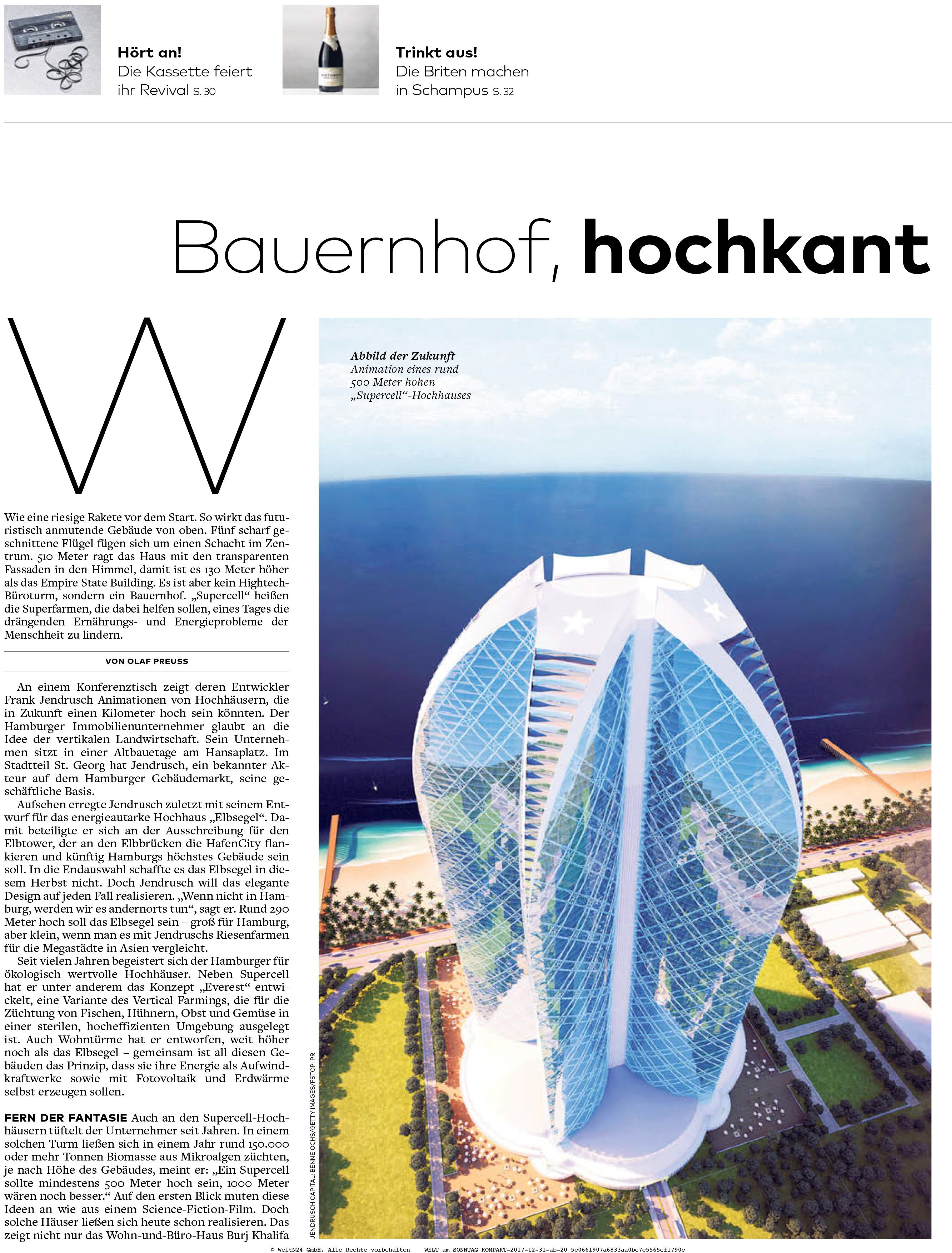 Welt Am Sonntag 31 12 17 Seite 1 Hochhaus Kassette Zen