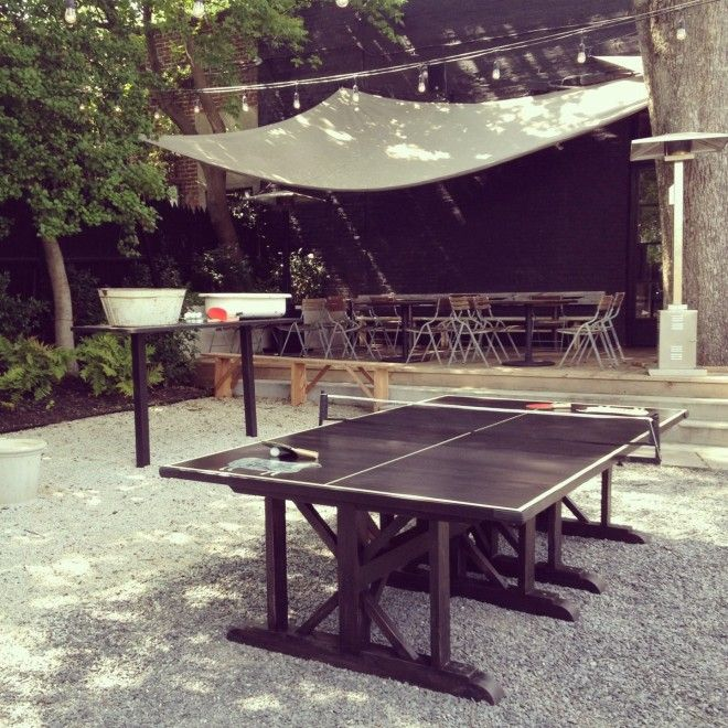 Ping Pong On The Back Patio At 246  Downtown Decatur