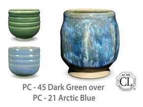 Pc 45 Dark Green Pottery Patterns Arctic Blue Glazes For Pottery