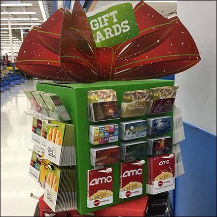 Mini Christmas Gift Card Tower At Walmart Gift Card Merchandising