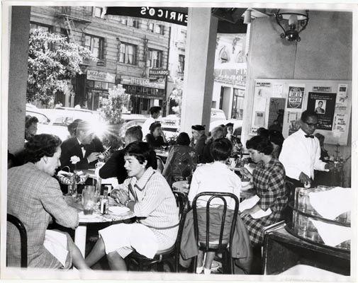 Enrico's Restaurant, San Francisco, 1960 by San Francisco Public Library, via…
