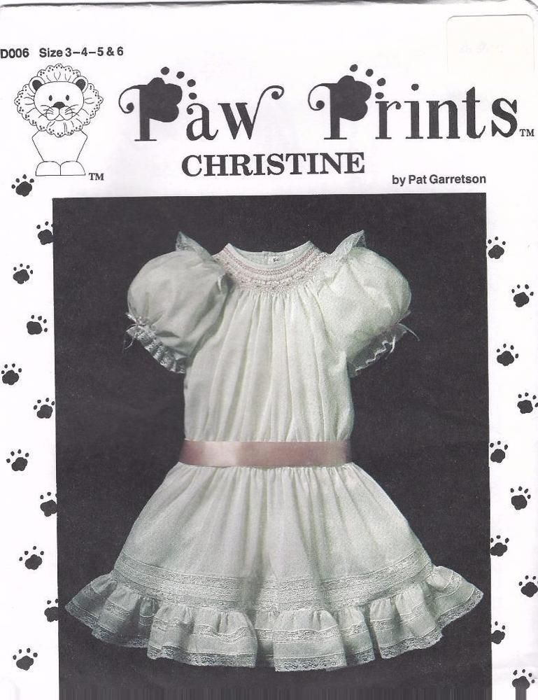 HEIRLOOM PAW PRINTS CHRISTINE DROP WAIST BISHOP DRESS PATTERN ...