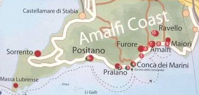 Furore Italy Map.The Amalfi Coast Getting There By Train Italy Trip Pinterest