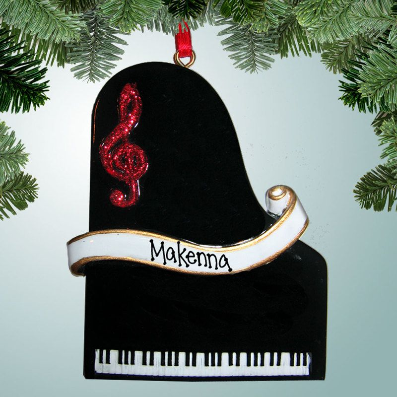 Piano   Personalized christmas ornaments, Personalized ...