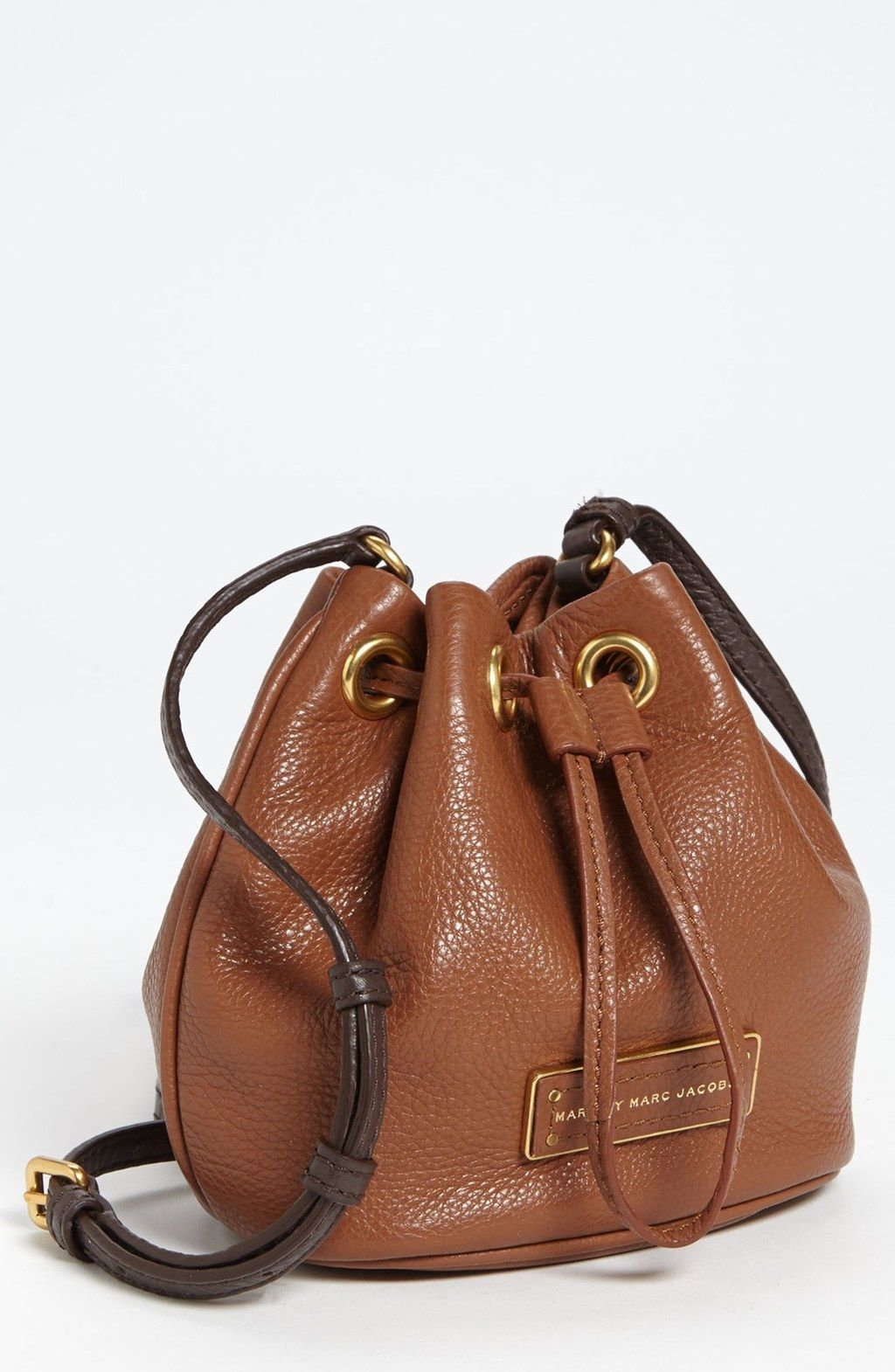 Leather · Marc by Marc Jacobs - Brown Too Hot To Handle Mini Leather  Drawstring Crossbody Bag c2c606cf624b4