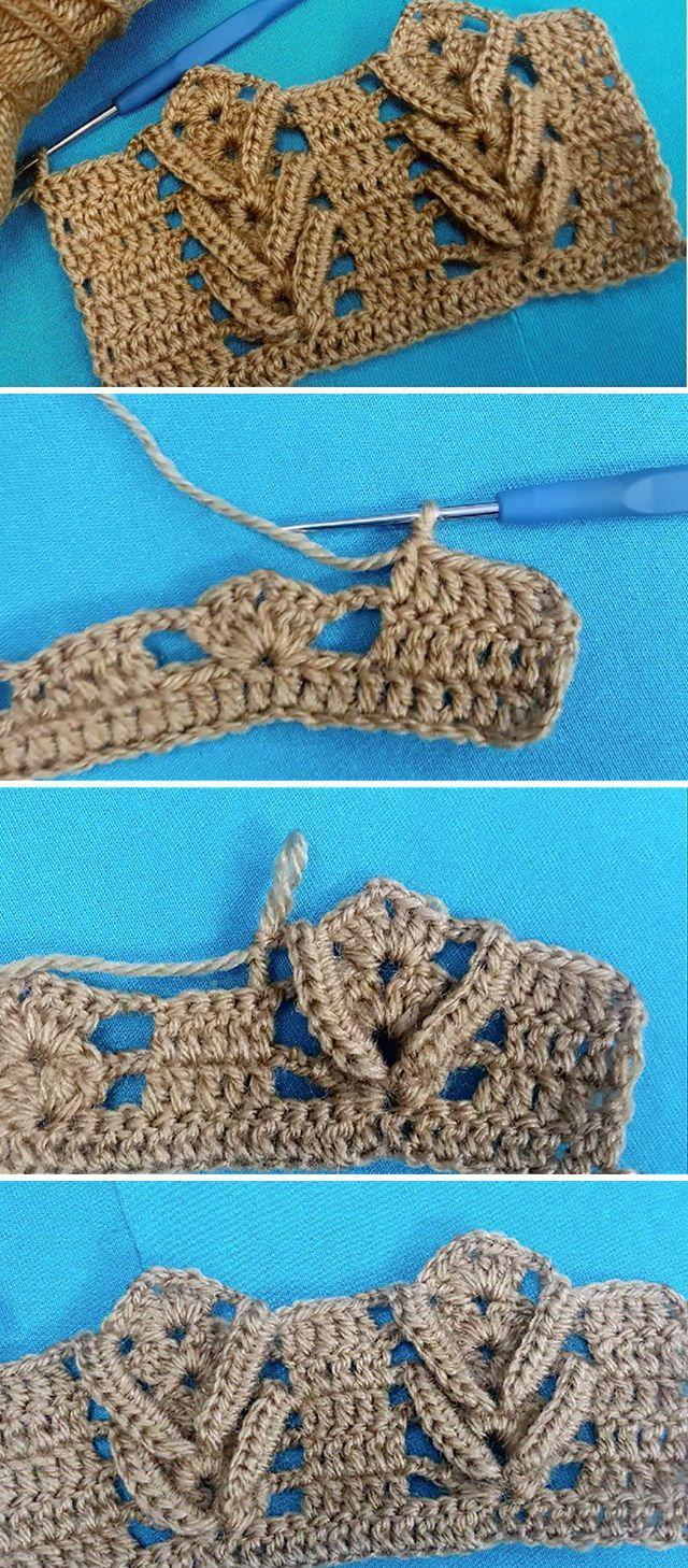 Photo of Crochet Fishbone Pattern You Can Learn Easily | CrochetBeja –  – #Crochet #Croch…
