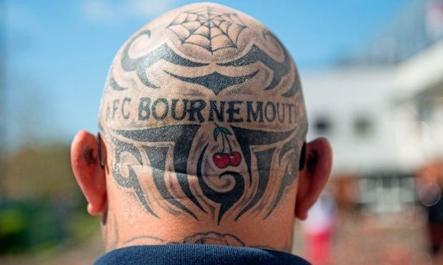 A Bournemouth supporter.