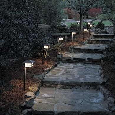 14 Bright Ideas for Lighting Your Backyard | Walkways, Backyard and on walkway bollard lighting, walkway low voltage lighting, walkway signage, walkway lighting fixtures, walkway landscape lighting,
