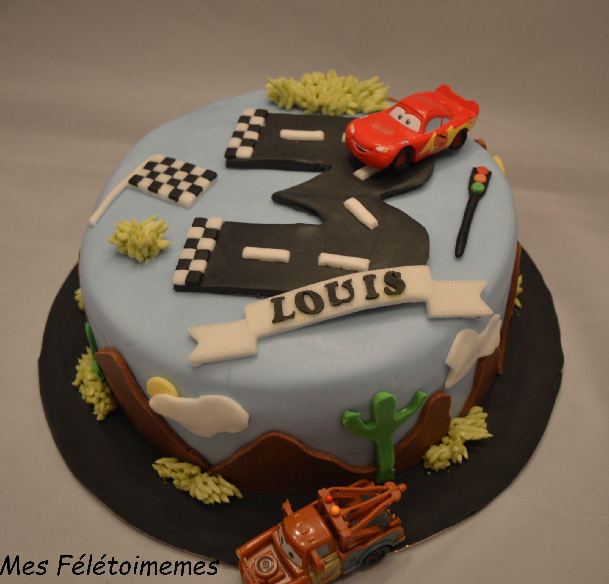 Mon Premier Gâteau Cars Pour Les 3 Ans De Louis Encore Un Bon