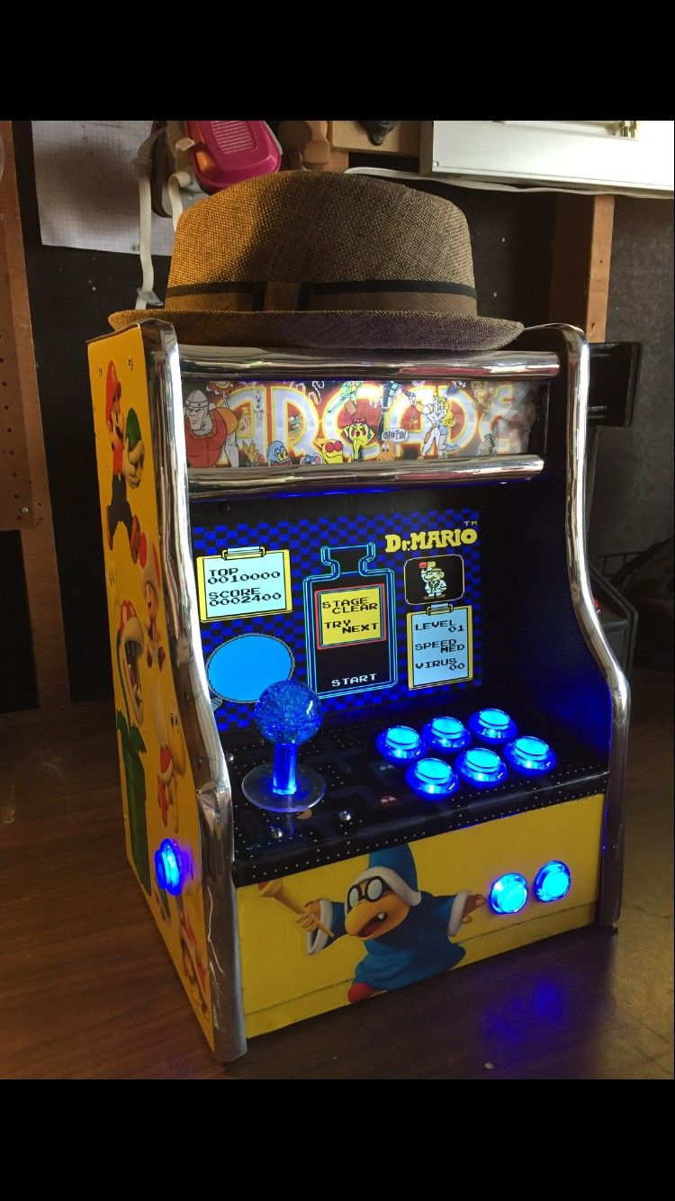 My mini Arcade machine. MARK 2. I made it from scratch. No template just a 80s dream. : arcade cabinet template - Cheerinfomania.Com