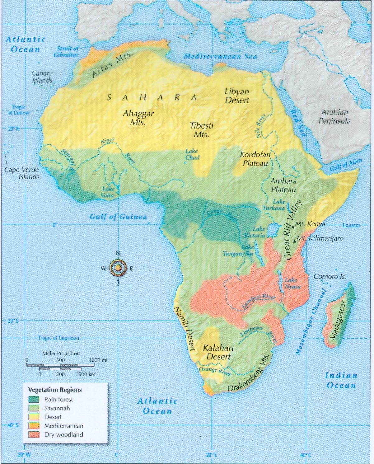 Physical Regions Of Africa